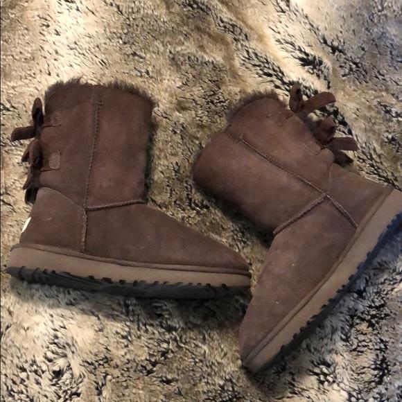 ae0196f3cf5 UGGS Bailey Bow Chocolate Brown Corduroy Boots - 8